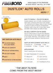 Filters brochure (PDF) Dustlok Auto Rolls MERV 7 Brochure